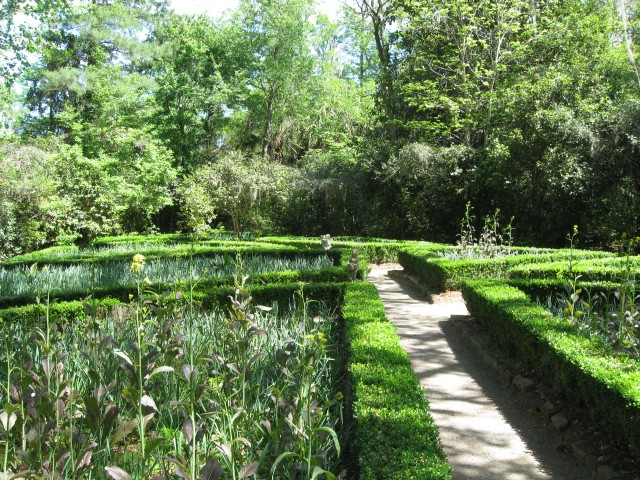 Formal garden at Flowerdale in Magnolia Plantation